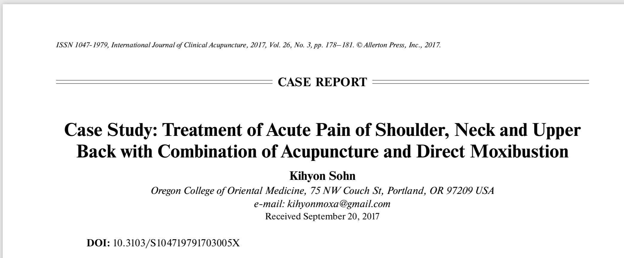 Maxibustion case report shoulder pain